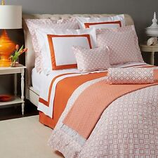 Sferra Bedding Deagan 2170 KING Duvet Cover Tangerine MSRP $450 D5185