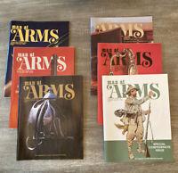 LOT 6 MAN AT ARMS Magazines Complete Year 1983 RIFLE HANDGUN SHOOTING SWORD NRA