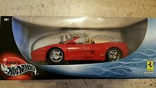 HOT WHEELS F355 FERRARI SPIDER CONVERTIBLE**RARE BADGE INT.** RED**LIC*PRODUCT