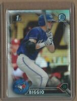 CAVAN BIGGIO 2016 1st Bowman Draft Chrome Refractor Rookie Card Blue Jays