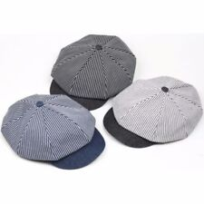 Gatsby Solid Pattern 100% Cotton Hats for Men