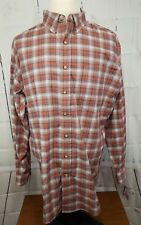 Noble Outfitters Work Shirt Mens Generations Fit L/S Pleat Plaid XL