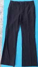 JOHN VARVATOS Men Black Dress Pants Wool Blend Euro Size 48 (32 X 31)