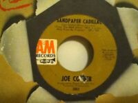 JOE  COCKER         45 SINGLE ,  FEELING  ALRIGHT  /  SANDPAPER  CADILLAC