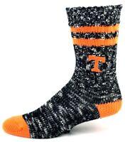 Tennessee Volunteers NCAA Black and White Orange Alpine Crew Socks