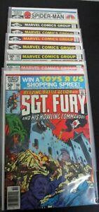 Sgt. Fury & His Howling Commandos High Grade Lot (8) 160-167 High Grade Bronze