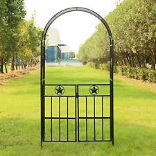 New listing Metal Arch Garden Trellis Wedding Arbor Flower Frame Bridal Party W/Doors