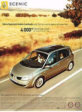 PUBLICITE ADVERTISING 114  2007  RENAULT  SCENIC LATITUDE toit verre panoramique