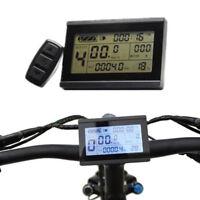 24/36/48V Bicycle eBike LCD Display Meter Panel Remote Control Odometer Flowery