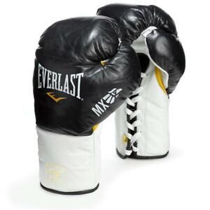 Everlast MX Pro Fight 10oz XL Boxing Gloves Black/White FITNESS MMA BAG PADs UFC