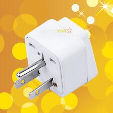 2x Universal to US Grounded Travel Plug Adapter Converter UK USA EU AUS to Japan