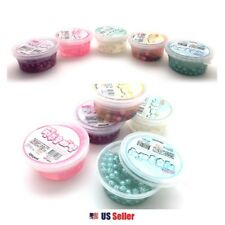 Real Pearl Slime Soft Squishy Pudding Slime Toy with Pearl Balls (Random 1pc)