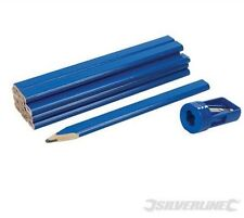 Carpenters Pencils & Sharpener Set 13pce Woodwork Timber 250227 pencil marking