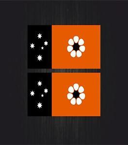 2x Autocollant sticker drapeau tuning valise australie northern territory