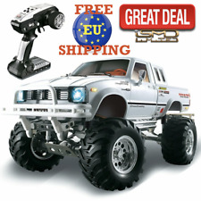 1:10 2.4G 4WD Rc Car Metal 4X4 Pickup Truck Rock Crawler RTR Toy Xmas Gift