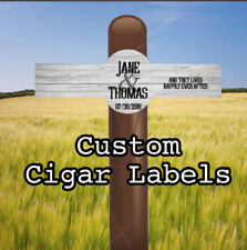 Set of 16 Personalized Cigar Labels - Wedding - Rustic - Country - Happily Ever