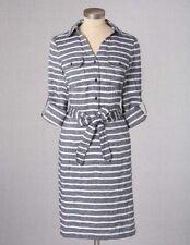 NEW  Boden Striped Linen Shirt Dress  Size US 8 L *