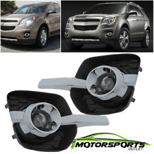 [Glass Projector Lens] 2010-2016 Chevy Equinox Bumper Fog Lights Driving Lamps