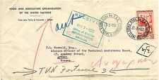 P6856   Roma, lettera della Fao spedita ad Atene 1952