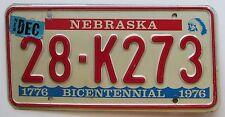Nebraska 1981 HAMILTON COUNTY BICENTENNIAL License Plate NICE QUALITY # 28-K273
