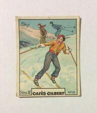 CHROMO Image CAFES GILBERT années 30 Série 3 n° 12 SKI