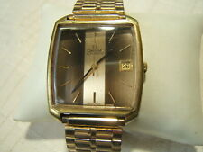 OMEGA WRIST WATCH LARGE SQUARE AUTOMATIC UNUSUAL DIAL