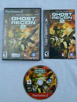 Tom Clancy's Ghost Recon 2 (Sony PlayStation 2, 2004) Disc Book Case - Tested