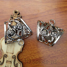 1pc 39mm Fashion Jewelry Scarf Rings Charm Pendants Accessory Tibet Silver 7557