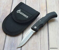 7.22 INCH OVERALL GERBER GATORMATE MADE IN USA LOCKBACK FOLDING KNIFE WITH POUCH