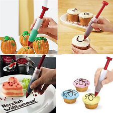 Silicone Fondant Cake Pen Pastry Icing Writing Syringe Baking Decor Tools New H