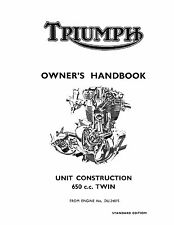 Triumph Owners Manual Book 1966 Thunderbird 6T, Tiger TR6 & Bonneville T120