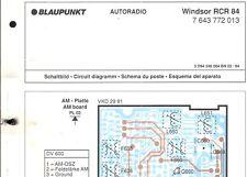 Blaupunkt Orig. Service Schaltplan f. Windsor RCR 84