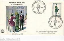 1967**ENVELOPPE-FDC 1°JOUR!!!**JOURNEE DU TIMBRE**TIMBRE Y/T 1516