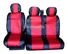 RED PREMIUM LEATHERETTE SEAT COVERS FOR VAUXHALL OPEL VIVARO MOVANO