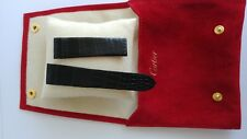 Cartier watch 18/16 100/65 BLACK Alligator band strap with purse RP GBP 295.00