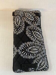 Vera Bradley black and white Soft Glass Case