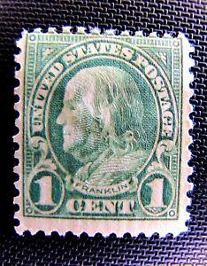 552 1c BENJAMIN FRANKLIN, MHM OG 1923
