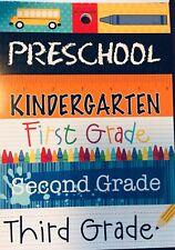 Preschool Kindergarten First Second Third School Cardstock Scrapbook Stickers