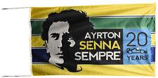 AYRTON SENNA FLAG BANNER  NEW escape explorer fusion 5X3 FT 150 X 90 CM