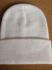 Men's Women Beanie Knit Ski Cap Hip-Hop WHITE Winter Warm Unisex Hat