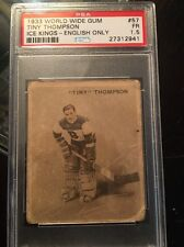 1933 Ice Kings #57 Tiny Thompson Psa 1.5, 1 Of 1 ,,2 Higher ,English Only. Rare