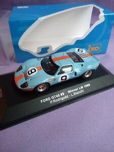 FORD GT40 #9 RODRIGUEZ/BIANCHI 1er 24H DU MANS 1968 IXO 1/43