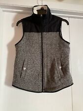 Abercrombie And Fitch Women's Zip Front Vest Size Small Knit/Pockets/Lined