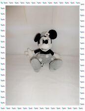♣ - Doudou Peluche Minnie Grise Noire  Disney Parks 25 cm