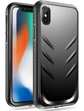 Poetic Revolution Series【Built-in-Screen Protector】Case For Apple iPhone X Black
