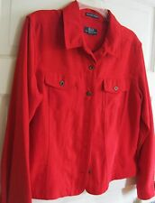 """""""Crazy Horse"""" red suede-like jacket, sz. PL. Perfect condition. Nice. SOFT."""