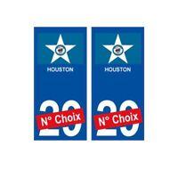 Houston ville sticker numéro au choix autocollant drapeau USA city -  Angles : a