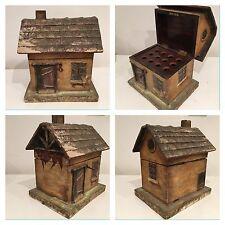 Ancienne boite à cigares en forme de chalet / maison ( Antique Cigar Box )