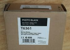06-2015 NIB EPSON T6361 Photo Black Ink 700ml for Stylus Pro 7890/7900/9890/9900