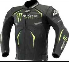new custom made monster energy motorbike leather jacket